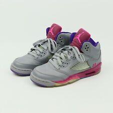 Nike Air Jordan 5 Retro Leather Trainers 440892-009 Cement Grey UK4.5/US5Y/EU37.