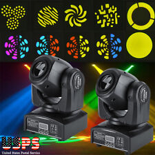 2PCS LED Mini Beam Stage Lighting Moving Head Lights DMX512 Party DJ Light USA