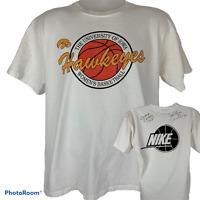 Vintage Iowa Hawkeyes Womens Basketball XL T Shirt C Vivian Stringer Autograph