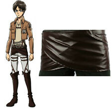 Attack on Titan Shingeki no Kyojin Leather skirt hookshot belt costume Cosplay c