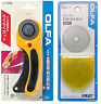 OLFA L-156B safety rotary cutter circular with RB45-1 45mm replacement blade F/S