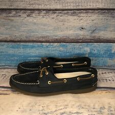 SPERRY TOP-SIDER  - Womens 10 M Navy Leather Deck Boat Shoes Mocs