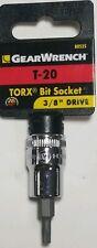 "GEARWRENCH T-20 Torx Bit Socket  80535 3/8"" Drive"