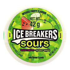 Ice Breakers Sours, Sugar Free Mints, Watermelon and Green Apple, 42 g