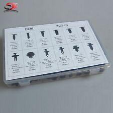 240pcs Car Body Retainer Push Type Pin Rivet Trim Clip Panel Moulding Kit
