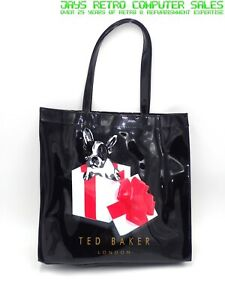 TED BAKER BLACK FRENCH BULL DOG LARGE TOTE BAG FRENCHIE LIMITED EDITION
