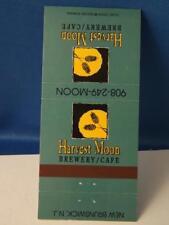 HARVEST MOON BREWERY CAFE RESTAURANT NEW BRUNSWICK NJ MATCHBOOK VINTAGE BEER