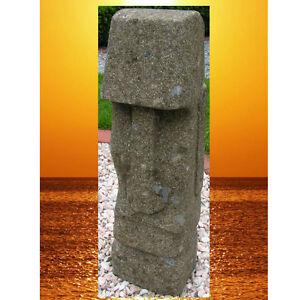 Gartendeko Moai Tiki Kopf Steinfigur Skulptur Osterinsel  Handarbeit handarbeit