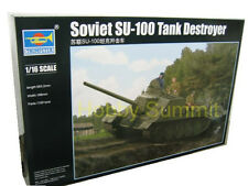 1/16 Trumpeter Russian SU-100  Soviet WWII Tank Destroyer Super Kit w/ Interior