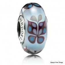 AUTHENTIC PANDORA CHARM BLUE BUTTERFLY KISSES MURANO #791622  P