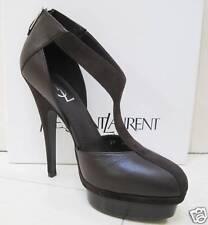 NIB YSL Yves Saint Laurent Easy T-Strap 105 Platform Leather Pumps Shoes 39