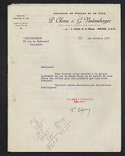 """PONTOISE (95) USINE de COULEURS en POUDRE & en PATE """"P. CHENU & G. VINTEMBERGER"""""""
