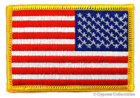 AMERICAN FLAG EMBROIDERED PATCH iron-on REVERSED USA IRON-ON UNIFORM LEFT FACING