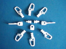 MOTORHOME / LORRY CURTAIN HOOKS / GLIDERS ,  HOOK No 17 .  PACK OF 25  FITS MANY