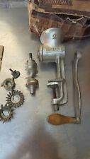 Vintage Universal 2 Meat Grinder Made in the USA Hand Crank Wood Handle