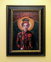 """NEW ● Angel """"Mary 2.0"""" Signed by artist, S. Randy Larson ● Gallery Framed Canvas"""