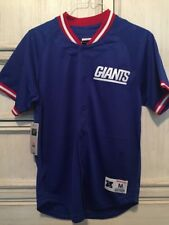 Mitchell & Ness NY Giants Throwback Jersey Seasoned PRO Mesh Button Front SZ 4XL