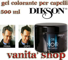 "GEL NOIR MODELLANTE / COLORANTE PER CAPELLI ""DIKSON"" PROFESSIONALE 500ml"