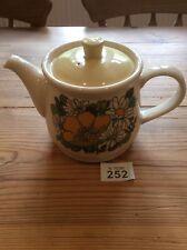 Sadler England large 1970s retro floral teapot vgc Yellow Poppies