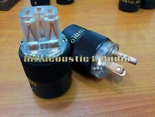 1Set AC red copper HIFI US mains Power Plug IEC female Connector