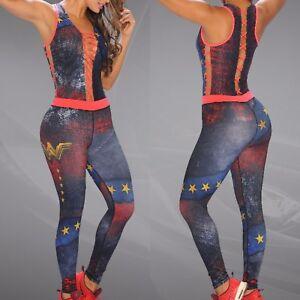 Colombian Brazilian Women's Jumpsuit Enterizo Microfiber S M Gym Workout Yoga