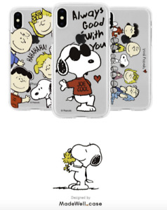 SNOOPY Clear Jelly Case PEANUTS X MADE WELL Case 100% Authentic