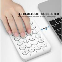 Portable Slim Mini Number Pad Rechargeable Bluetooth Wireless Numeric Keyboards