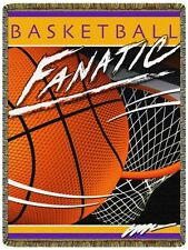 BASKETBALL FANATIC Sport Tapestry Afghan Throw Blanket