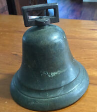 "Antique Round 5"" Cow Bell Goat Bell Primitive Rustic Farm House Decor Loud"