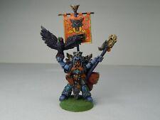 Vintage Warhammer 40k Space Wolf Njal Stormcaller Rune Priest. Pro Painted.