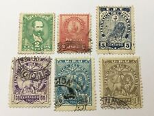 old stamps  PARAGUAY    x  6
