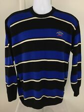 PAUL & SHARK YACHTING Blue and Black Striped Boys Crewneck Sweater - XXL EUC
