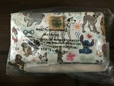 New ListingDooney & Bourke Disney Dogs Sketch Paw Prints Wristlet/Wallet -Stitch, Pongo