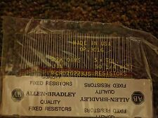 50 PCS ALLEN BRADLEY FIXED RESISTORS - 22K OHMS,0.25 WATT - FAST SHIP