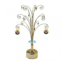 HOHIYA Metal Ornament Tree Stand Display Rotating Christmas Ball Bauble 24K...