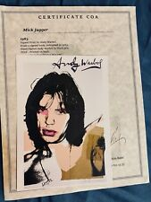 Mick Jagger ~ ANDY WARHOL,HAND SIGNED,1986 PRINT, WITH  COA