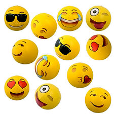 1pc Emoji Face Beach Ball Inflatable Round for Water Play Pool & Kids Toys Fun
