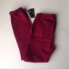 NWT Ladies 2 Crown & Ivy Skinny Denim Jeans Fuschia 5 Pocket