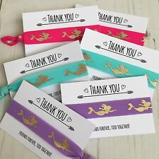 Mermiad Hair Ties Party Bag Filler Favour On A Thank You Card