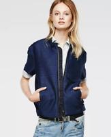 G-Star Soredo Loose Chopper Jacket Short Sleeve Blue Ladies Size UK S *REF50