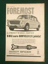 AUSTIN 1100 CV JOINTS HARDY SPICER 1963 A4 POSTER ADVERT READY FRAME SIZE F