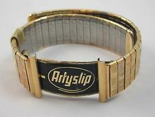 20mm Artyslip Gold Tone Mens Vintage Wrist Band New Old Stock