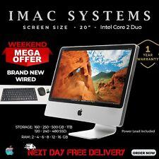 """BEST APPLE IMAC A1224 CORE 2 DUO 20"""" WIFI WEBCAM,FREE KEYBOARD & MOUSE-FREE POST"""