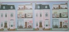 Wallpaper With Pink House/Dollhouse Exterior & View Of 5 Interior Rooms