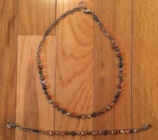 Sabika Retro Cool Rhinestone Bracelet & Choker Necklace Set Winter 2013