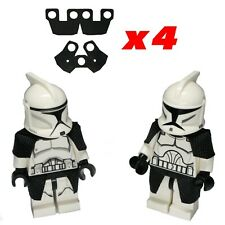 Lego Star Wars Cape Lot of 4 Clone Trooper Black Cloth Shoulder + Waste Capes