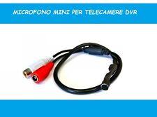 MINI MICRO MICROFONO PER TELECAMERE MONITOR DVR AUDIO SPY MINI MICROFONO AUDIO