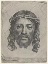 El rostro de Cristo de Claude we 1649, Jesús Corona de Espinas 7x5 pulgadas impresión