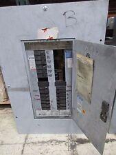 Westinghouse Main Lug Circuit Breaker Panel PRL1 100A 208Y/120V 30-Slot Used