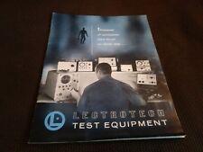 1969 Lectrotech Test Equipment Catalog Color Bar Generators Tube Analyzer
